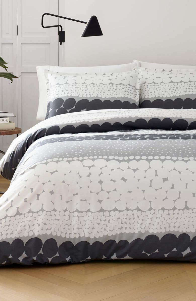 MARIMEKKO Jurmo Comforter & Sham Set, Main, color, DARK GREY