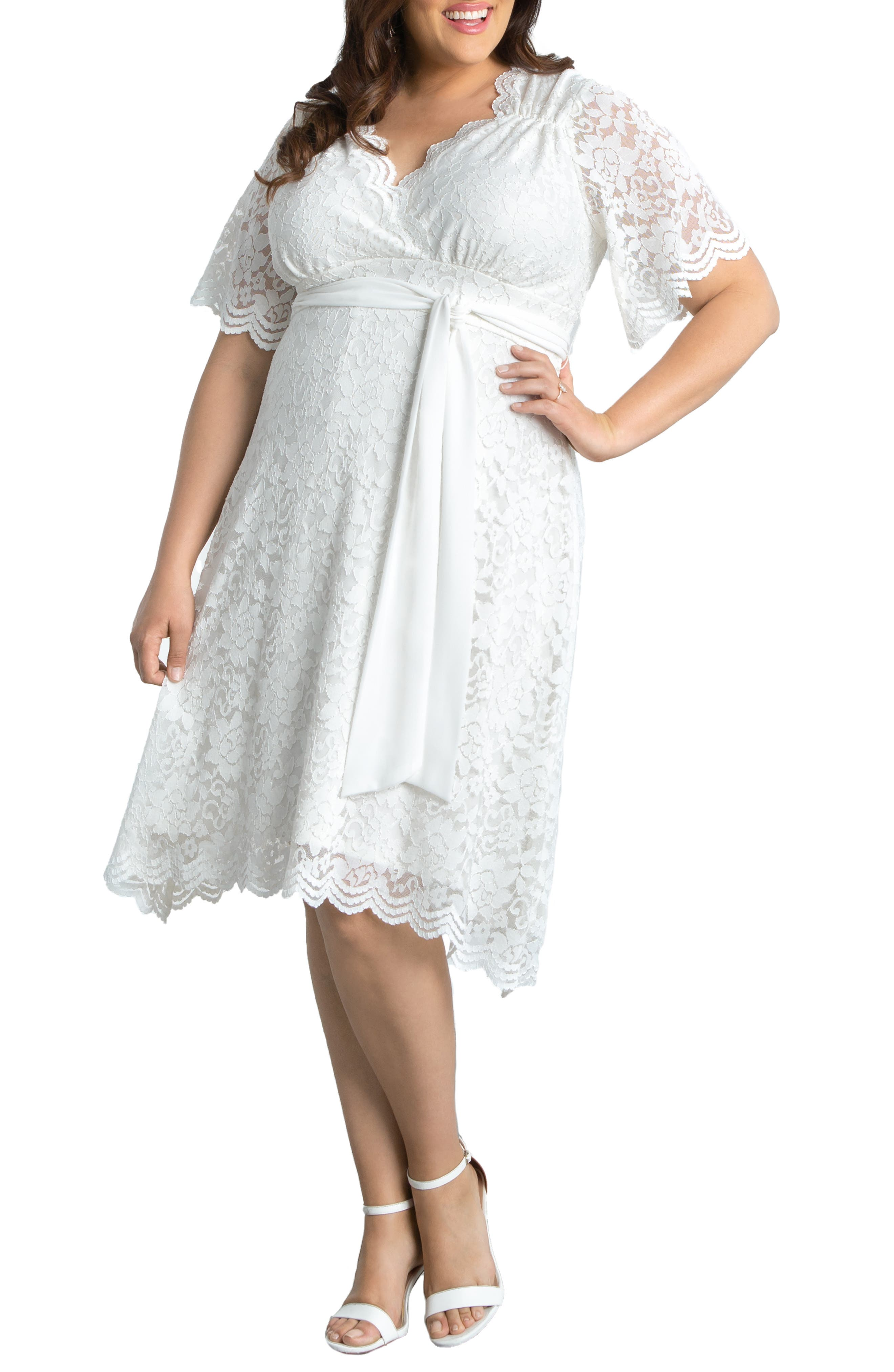 Graced With Love Faux Wrap Dress