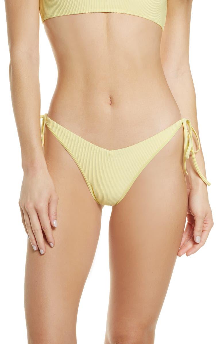 FRANKIES BIKINIS Conor Bikini Bottoms, Main, color, DAFFODIL