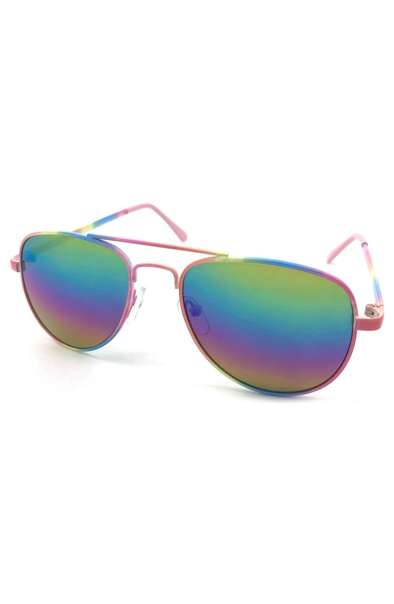 FANTASEYES Pastel Rainbow Sunglasses, Main, color, 000