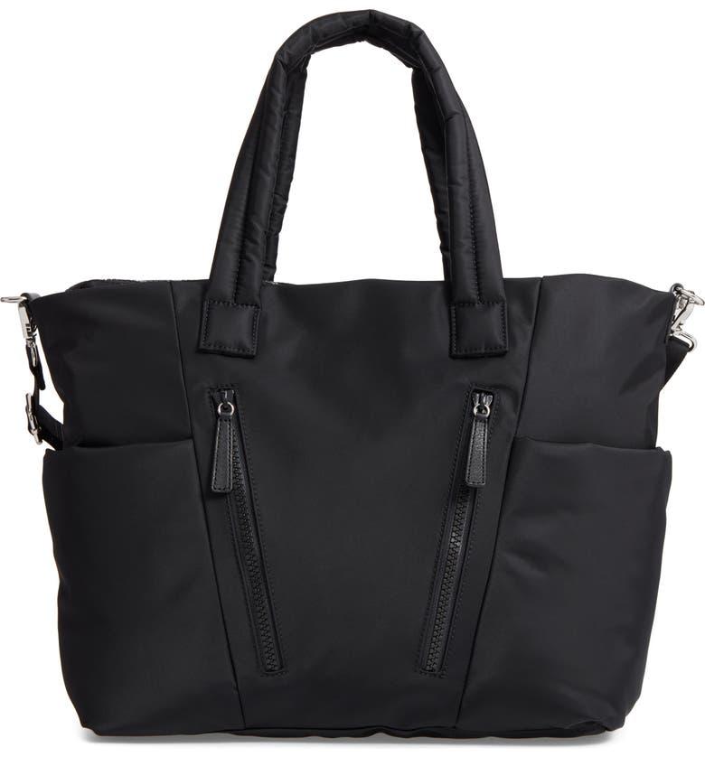 REBECCA MINKOFF Ellie Nylon Diaper Bag, Main, color, 001