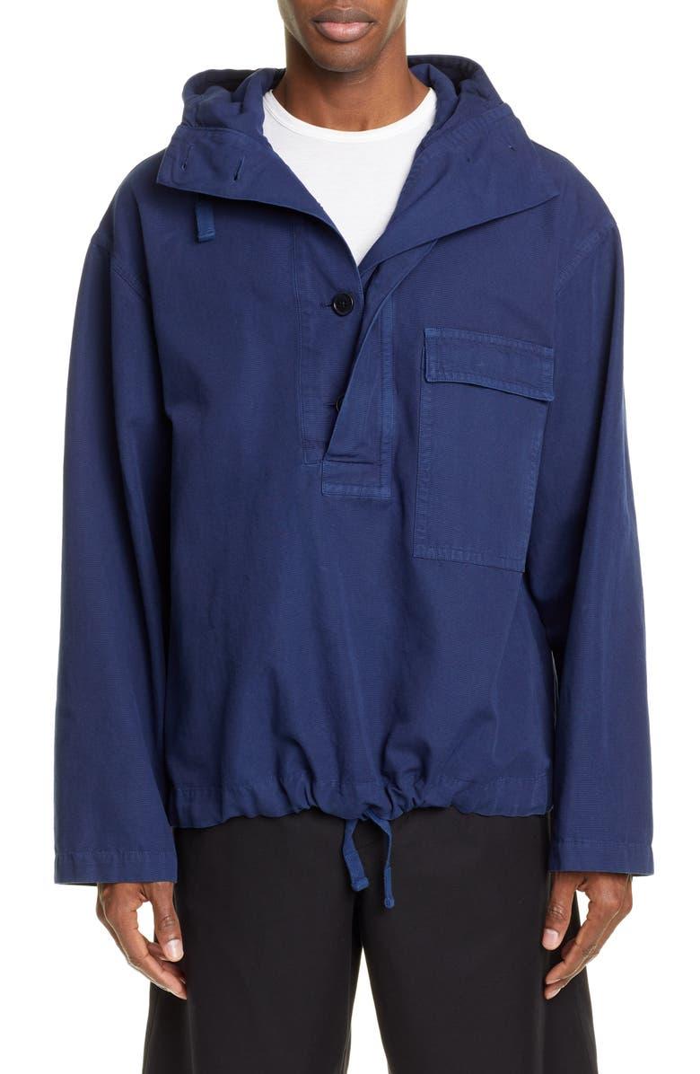 DRIES VAN NOTEN Cuber Palm Print Patch Jacket, Main, color, 401