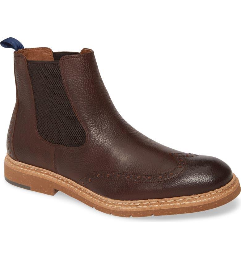 J&M 1850 Pearce Chelsea Boot, Main, color, DARK BROWN