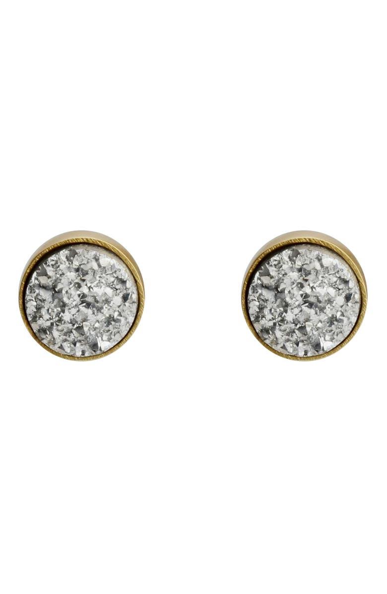 KAREN LONDON Diana Stud Earrings, Main, color, SILVER