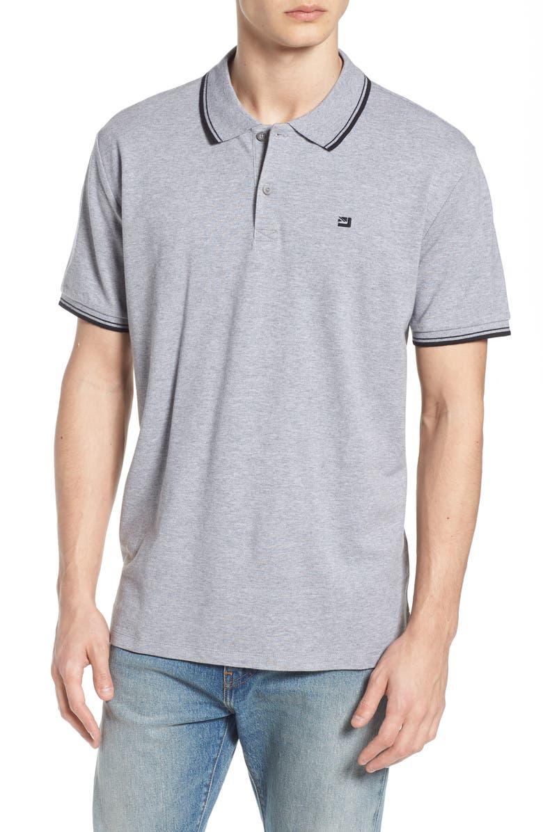 BEN SHERMAN Romford Slim Fit Polo, Main, color, GREY