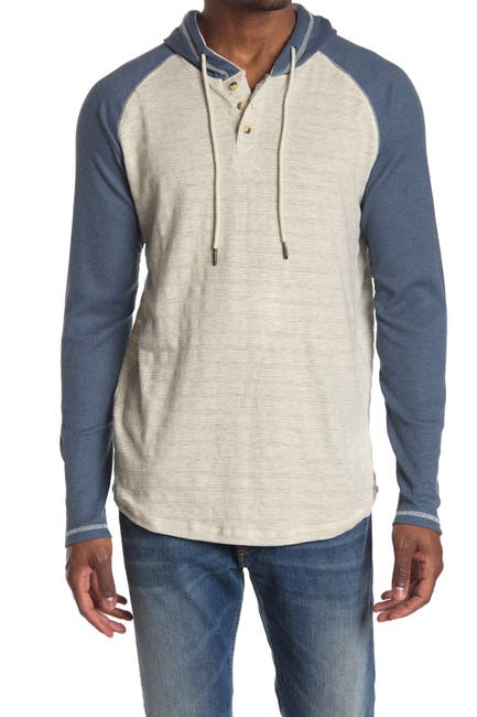 Image of PX Thermal Raglan Sleeve Hooded Henley