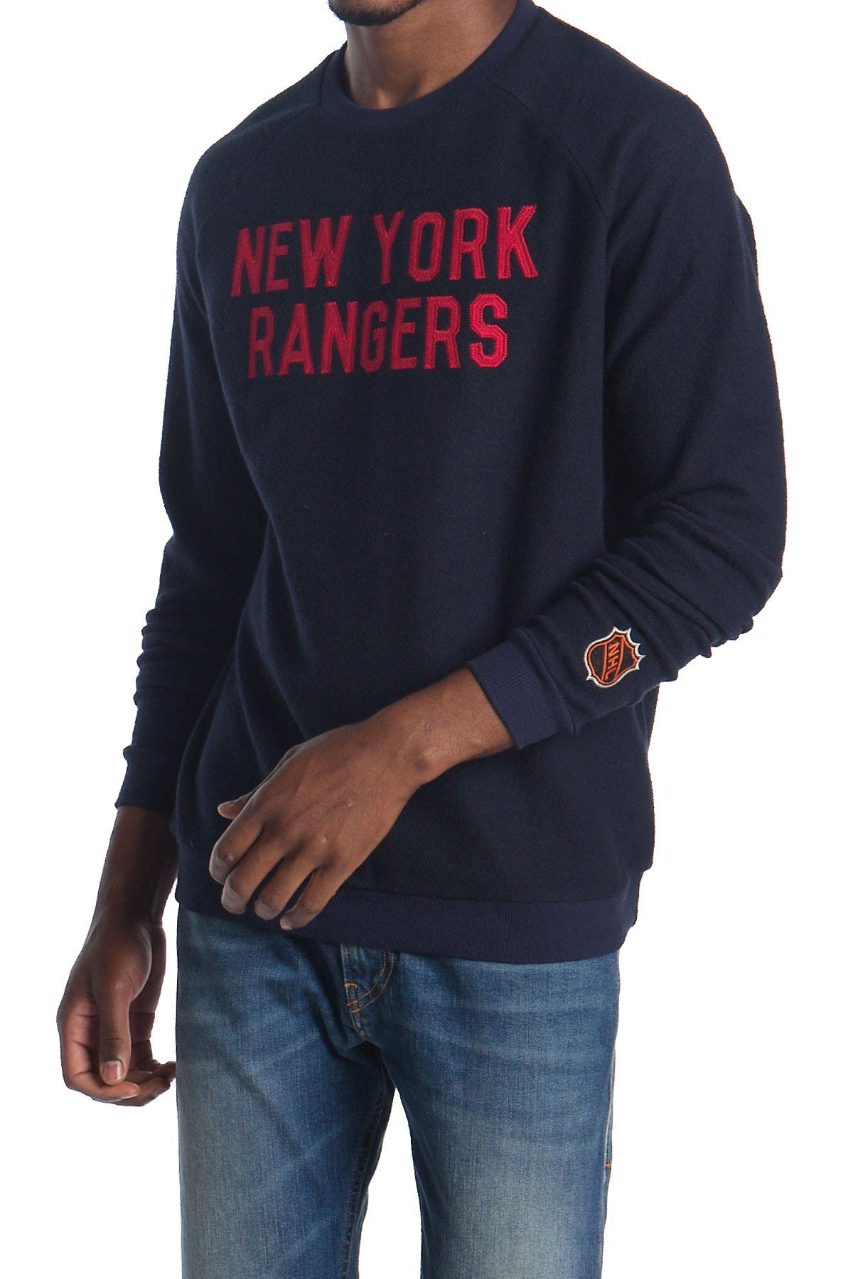 Image of American Needle NHL NY Rangers Long Sleeve Fleece