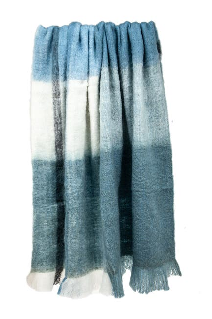"""Image of Parkland Collection Cabino Lodge Blue 52"""" x 67"""" Woven Handloom Throw Blanket"""