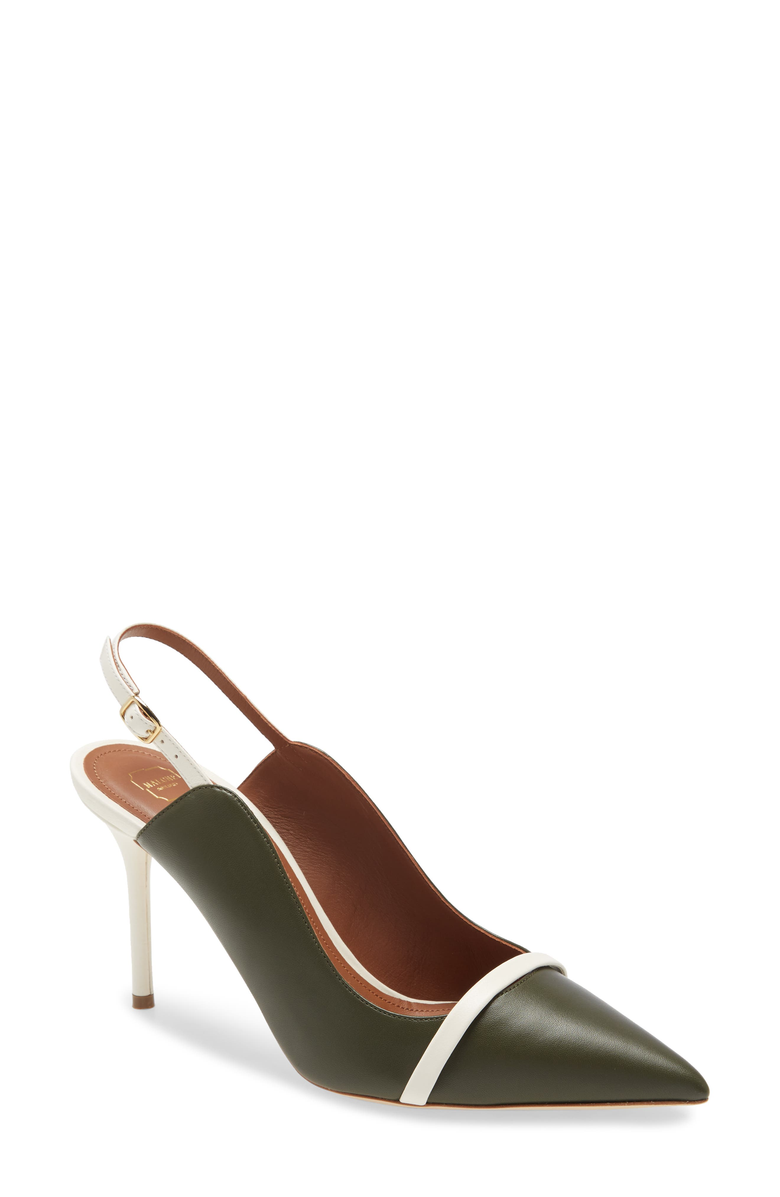 Women s Malone Souliers Marion Pointed Toe Slingback Pump E5625