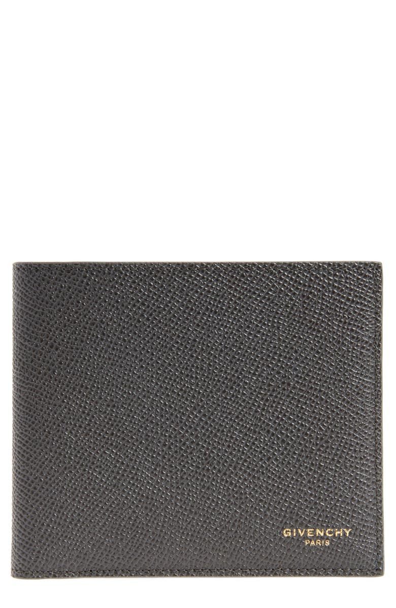 GIVENCHY Calfskin Leather Bifold Wallet, Main, color, 021