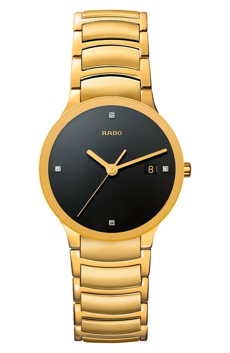 RADO Centrix Diamond Bracelet Watch, 38mm, Main, color, 710