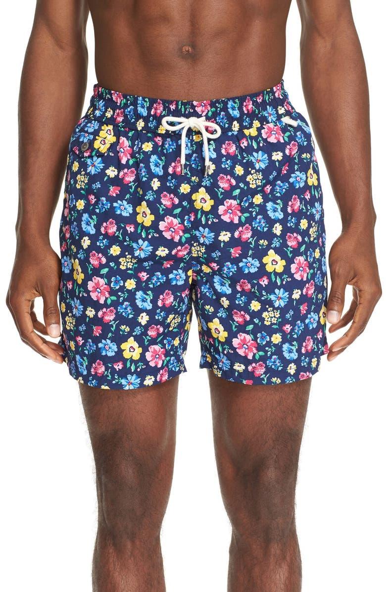 b0b2b16ae9 Polo Ralph Lauren 'Floral Traveler' Swim Trunks | Nordstrom