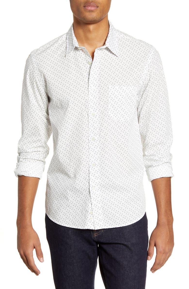 BENSON Print Button-Up Shirt, Main, color, 100