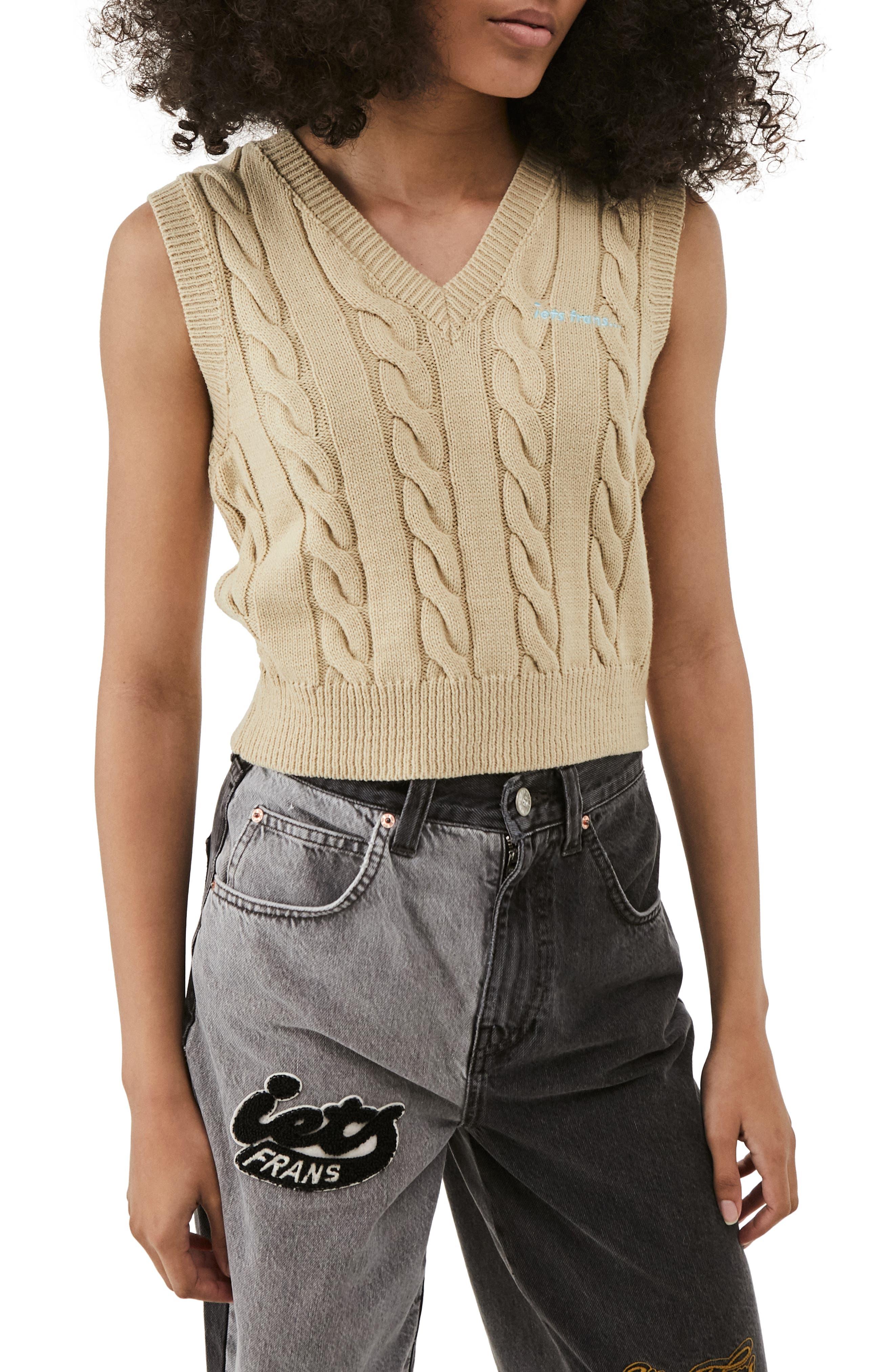Women's Cable Knit Vest
