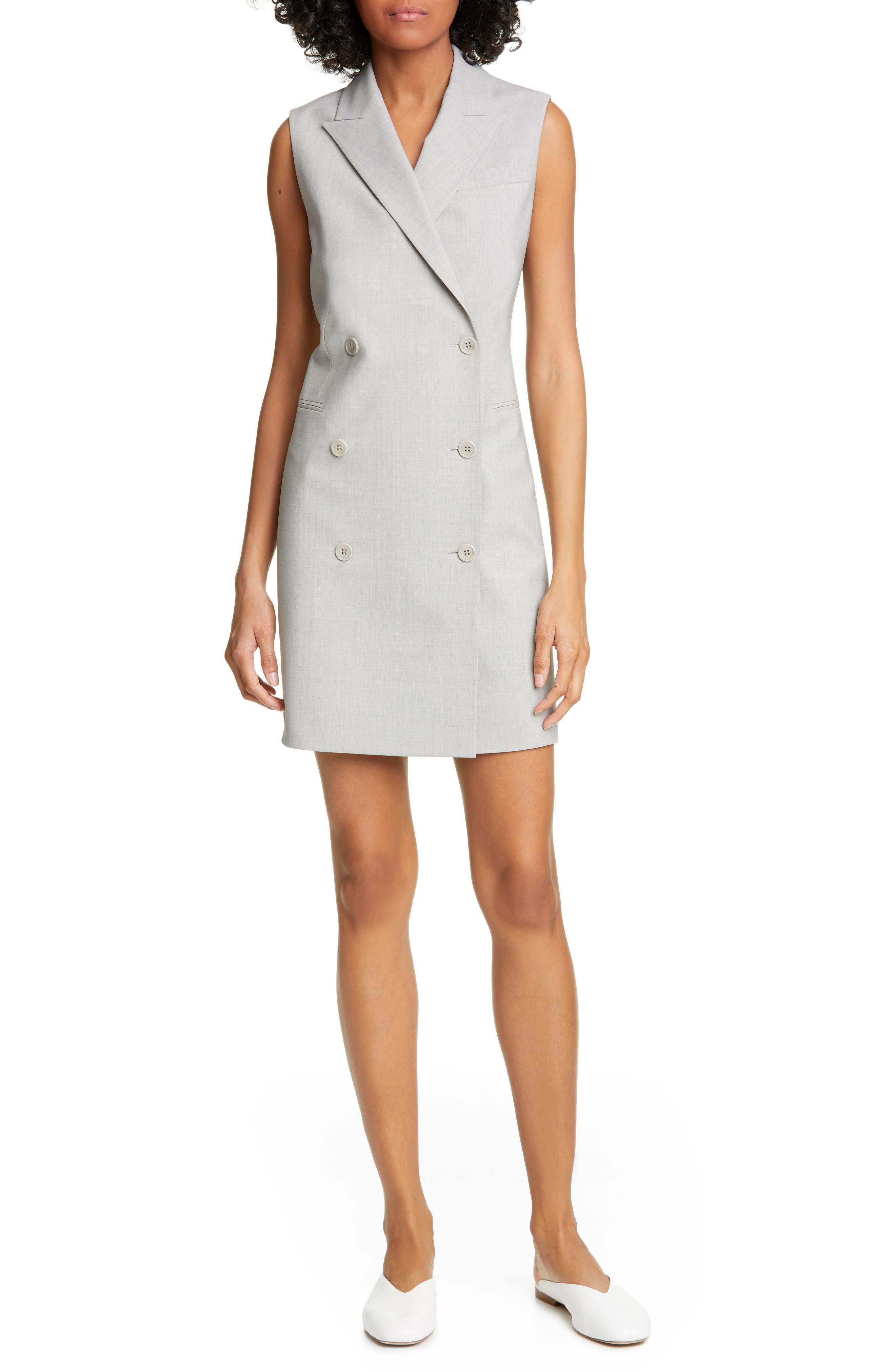 Theory Trac Blazer Dress, Grey