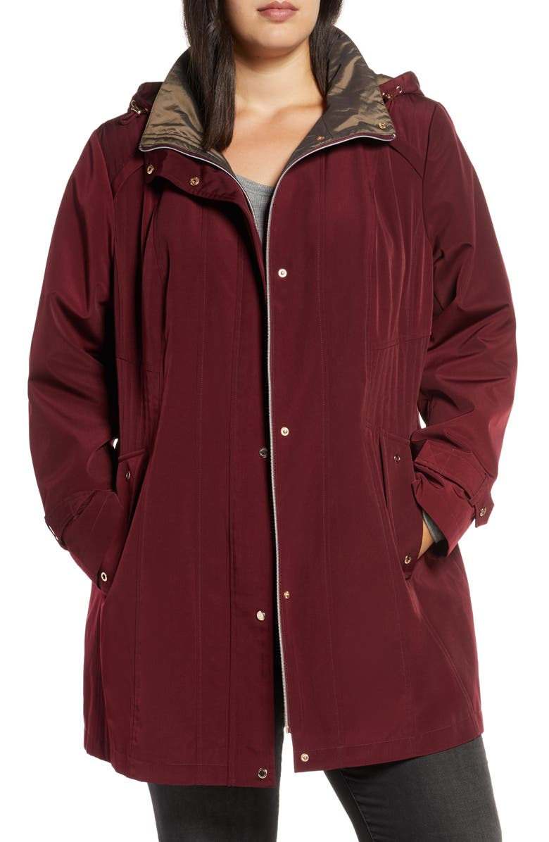 GALLERY Raincoat with Removable Hood & Liner, Main, color, 600