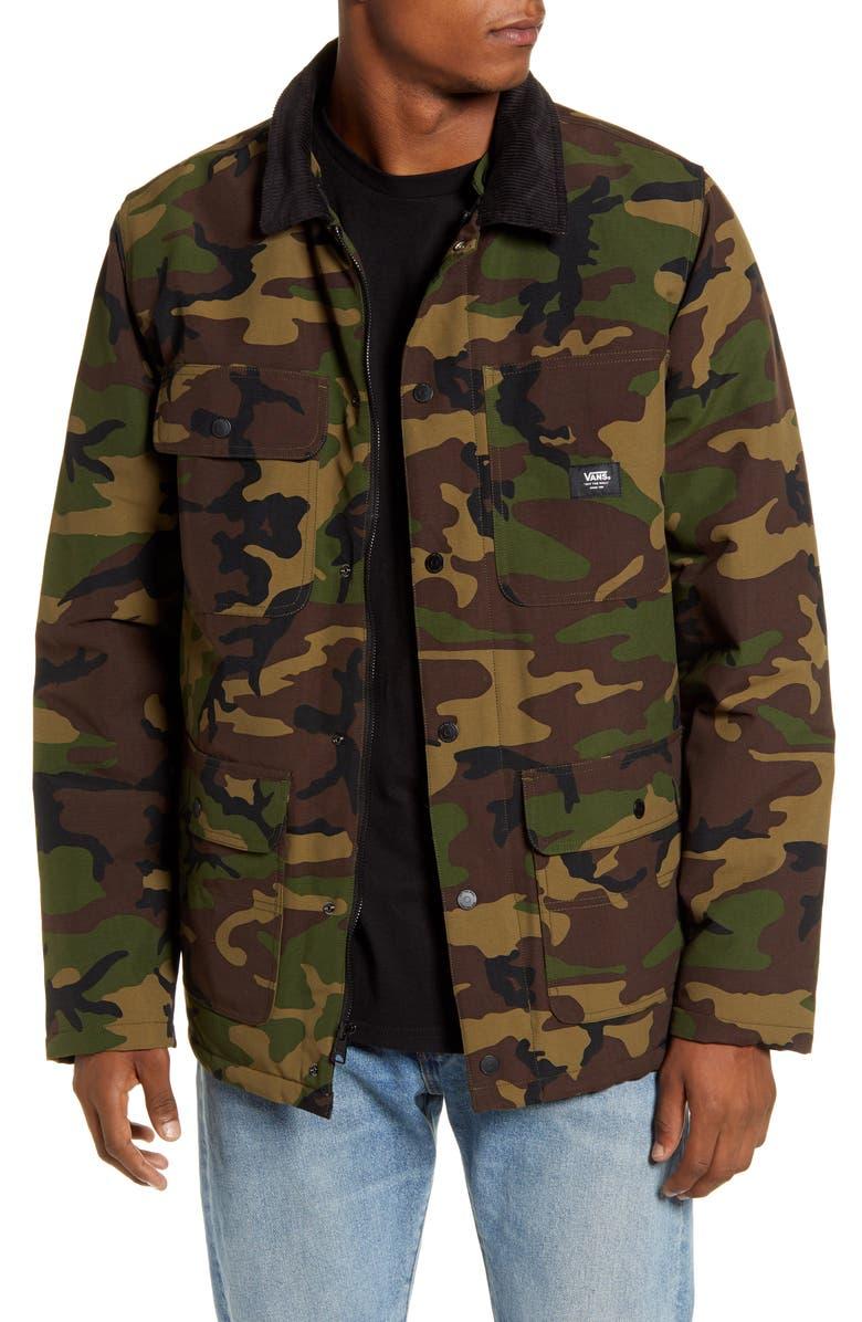 VANS Drill Water Repellent Hooded Chore Coat, Main, color, 300