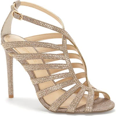Imagine Vince Camuto Raychel Embellished Sandal, Metallic