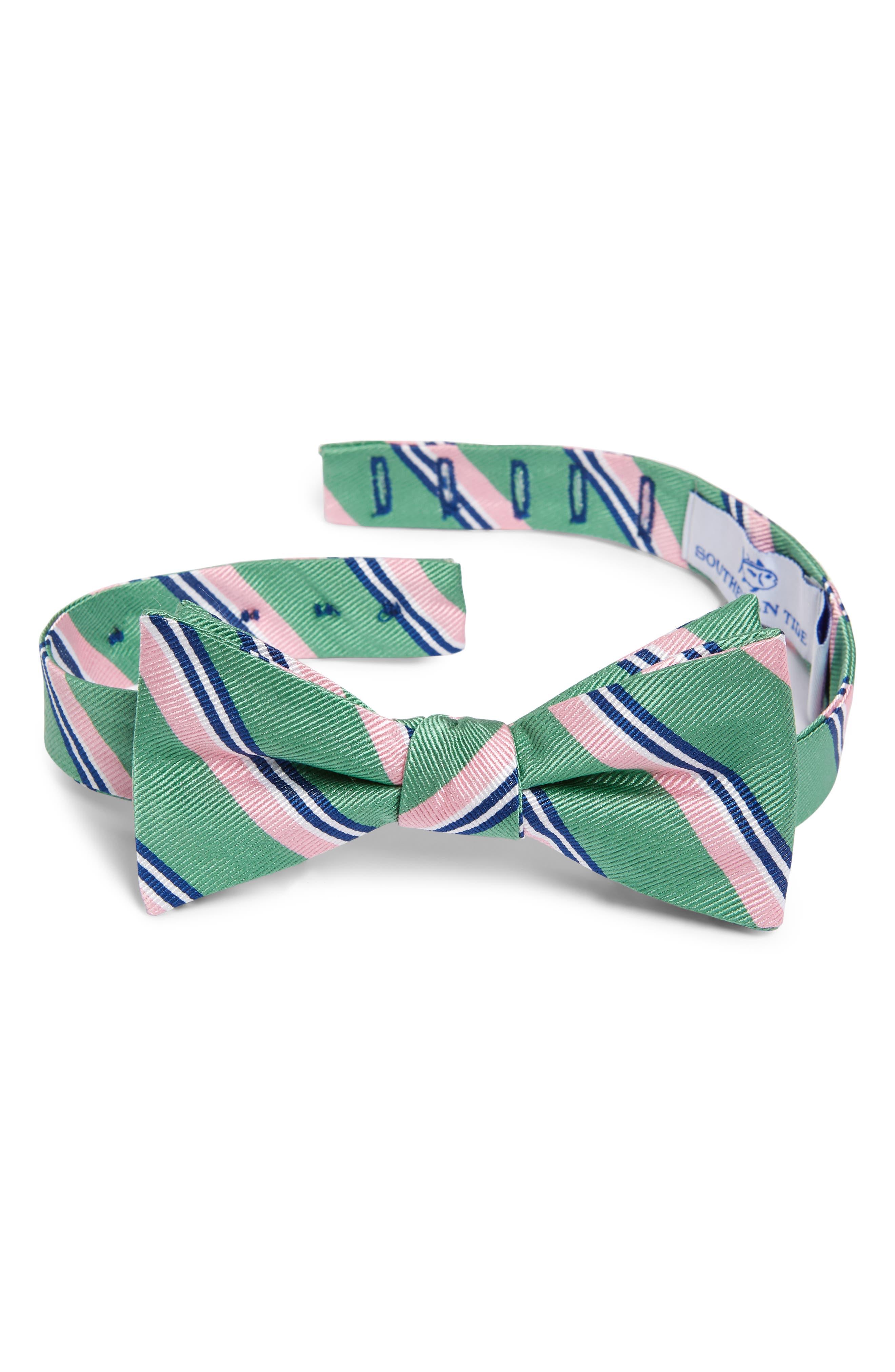 25f2ce182e89 1920s Bow Ties | Gatsby Tie, Art Deco Tie Mens Southern Tide Topsail Beach  Stripe