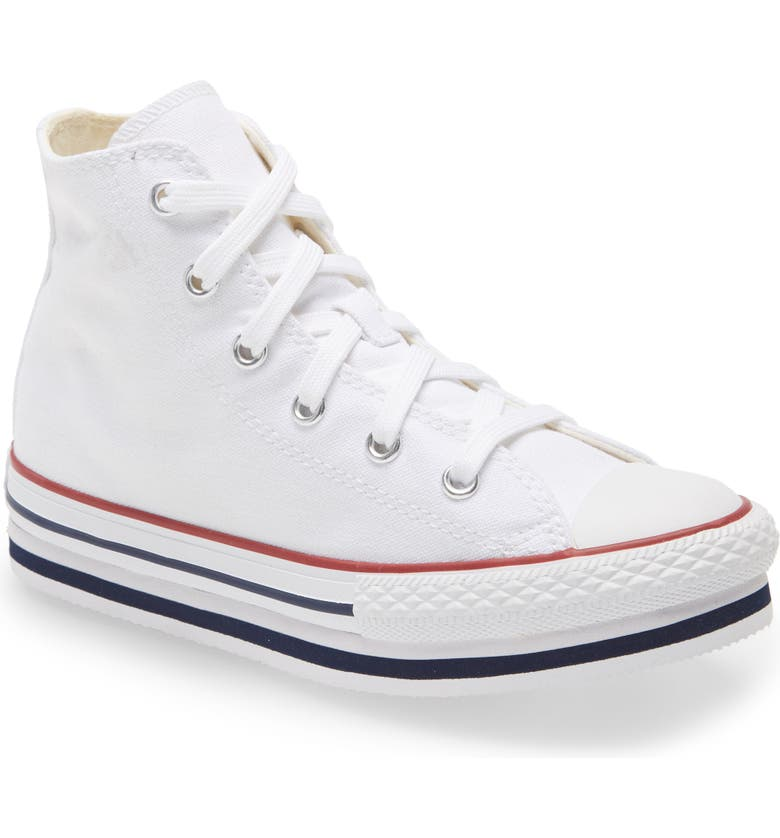 CONVERSE Chuck Taylor<sup>®</sup> All Star<sup>®</sup> High Top Platform Sneaker, Main, color, 100