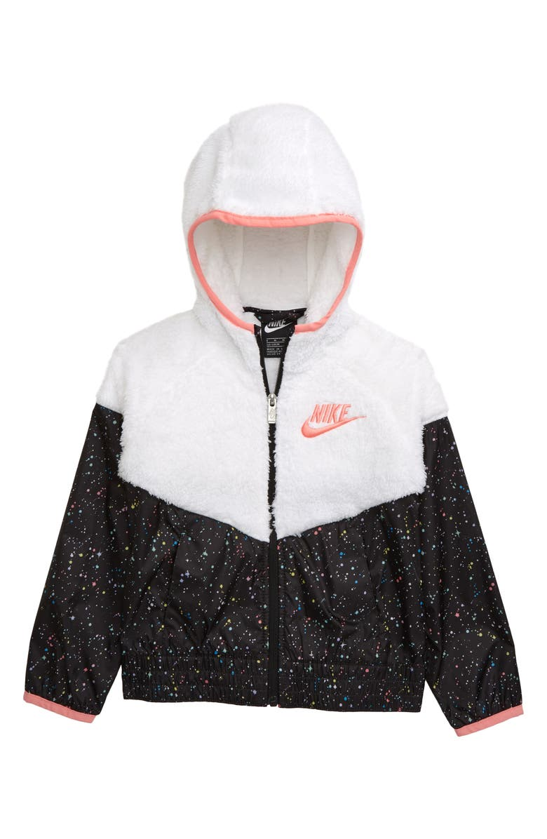 NIKE Full Zip Hoodie, Main, color, WHITE