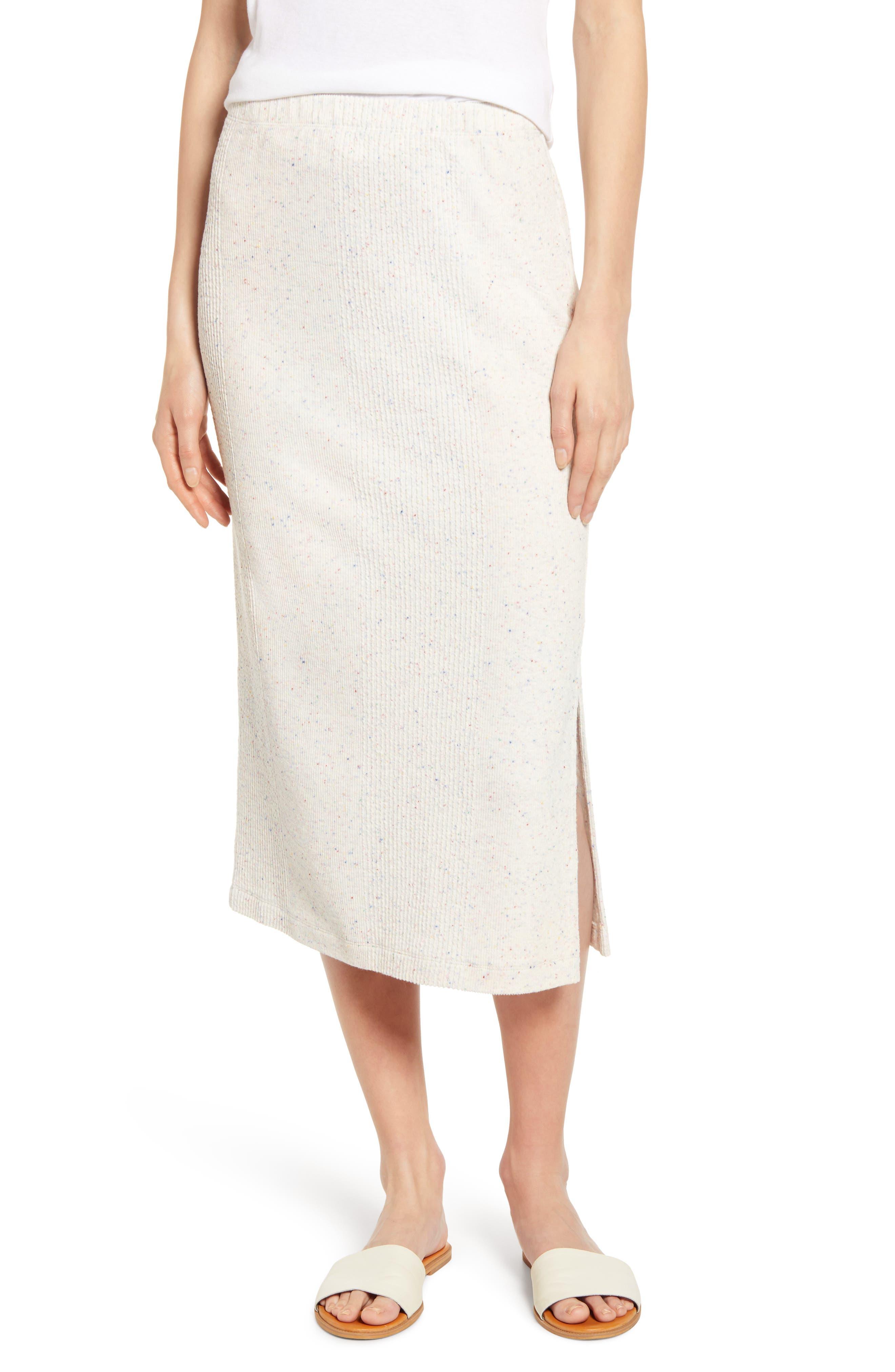 Lou & Grey Speckled Midi Skirt, Beige