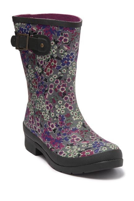 Image of Chooka Eastlake Mid Allie Floral Rain Boot