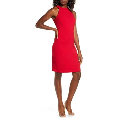 Sam Edelman Halter Sheath Dress, Red