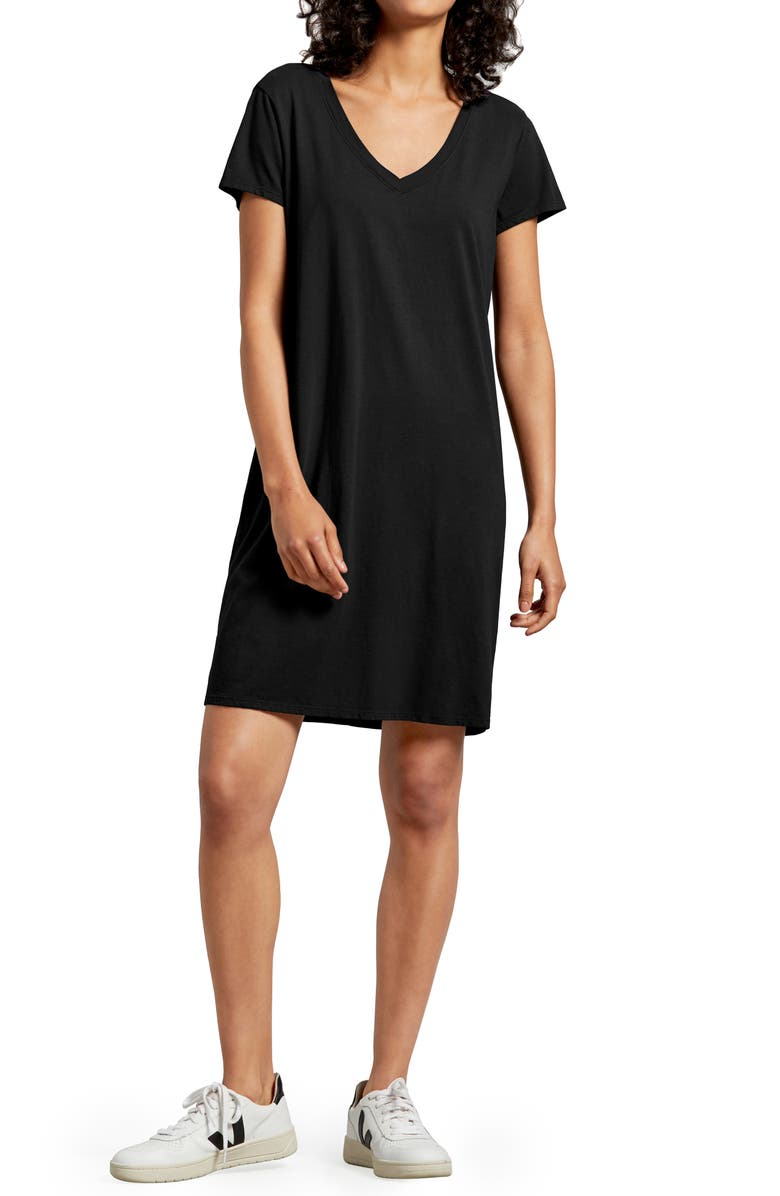 MICHAEL STARS Cassandra T-Shirt Dress, Main, color, 001