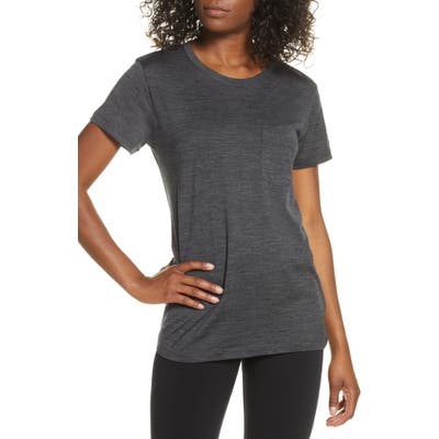 Icebreaker Ravyn Merino Wool Blend Pocket T-Shirt, Grey