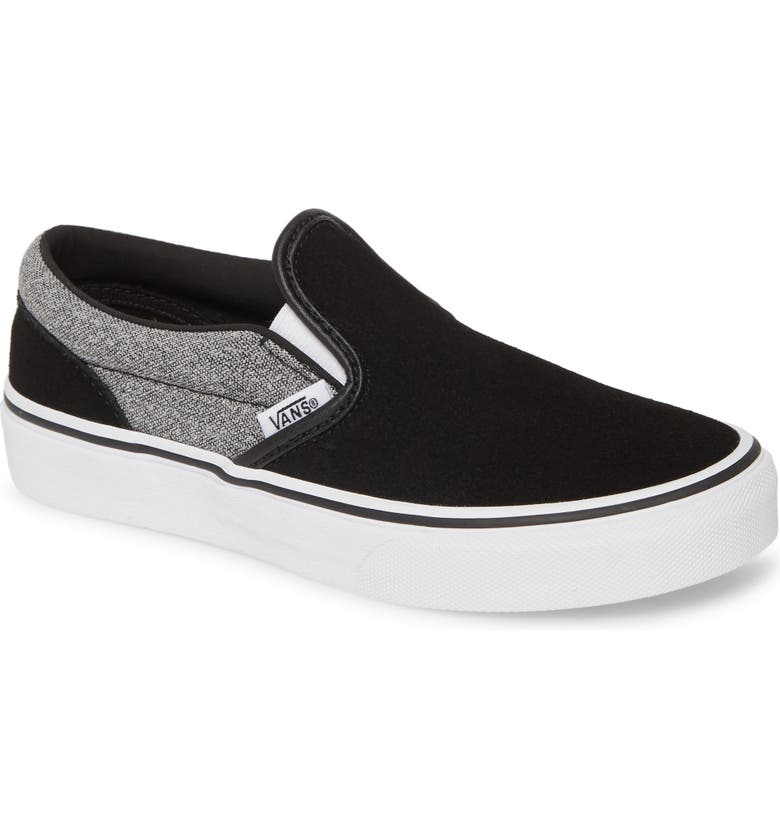 VANS 'Classic' Slip-On, Main, color, SUITING/ BLACK