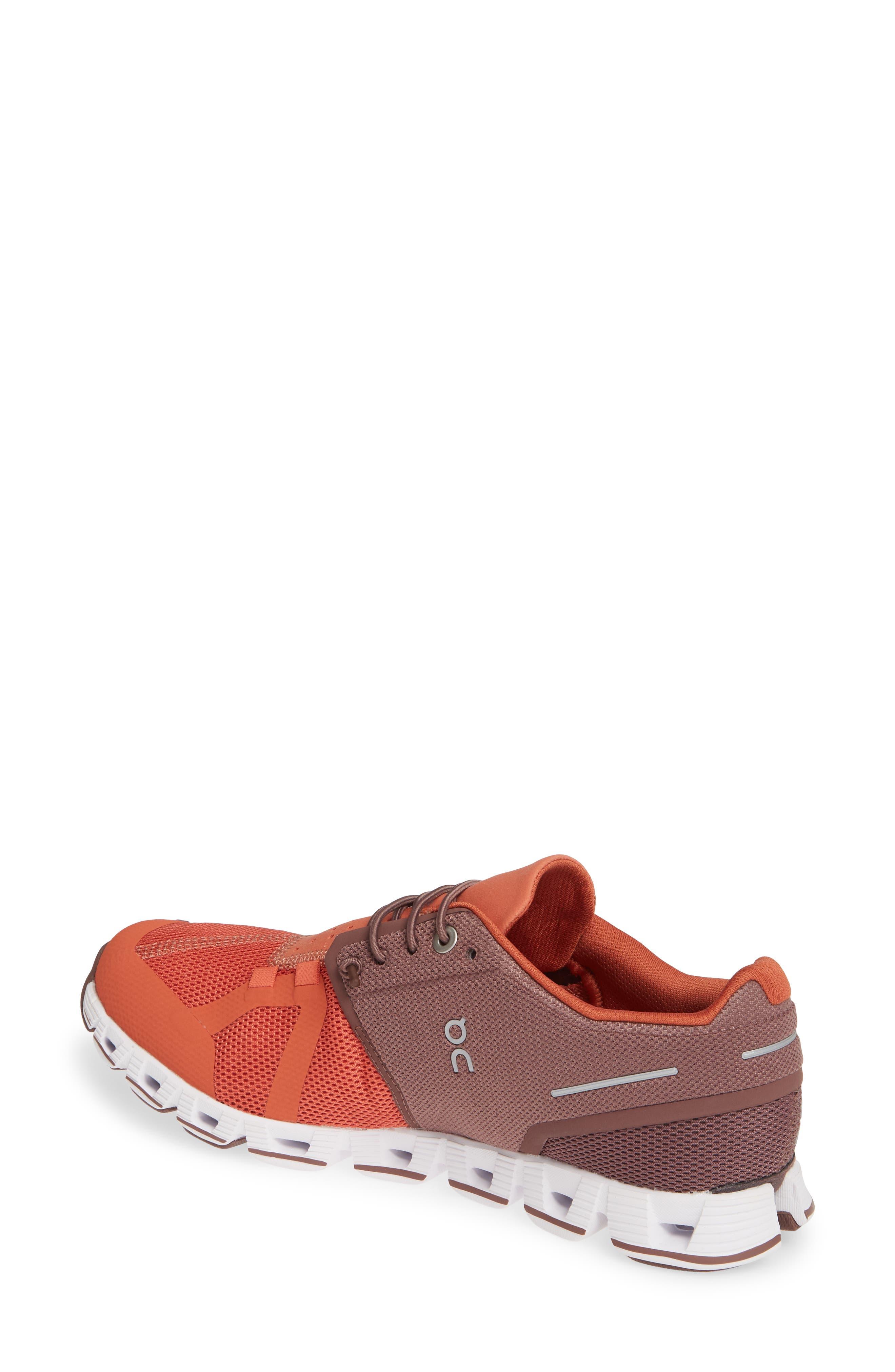 ,                             Cloud 50/50 Colorblock Running Shoe,                             Alternate thumbnail 2, color,                             GRAPE/ GINGER