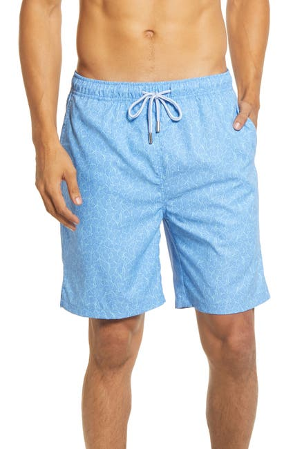 Image of Peter Millar Hibiscus and Bananas Swimming Trunks