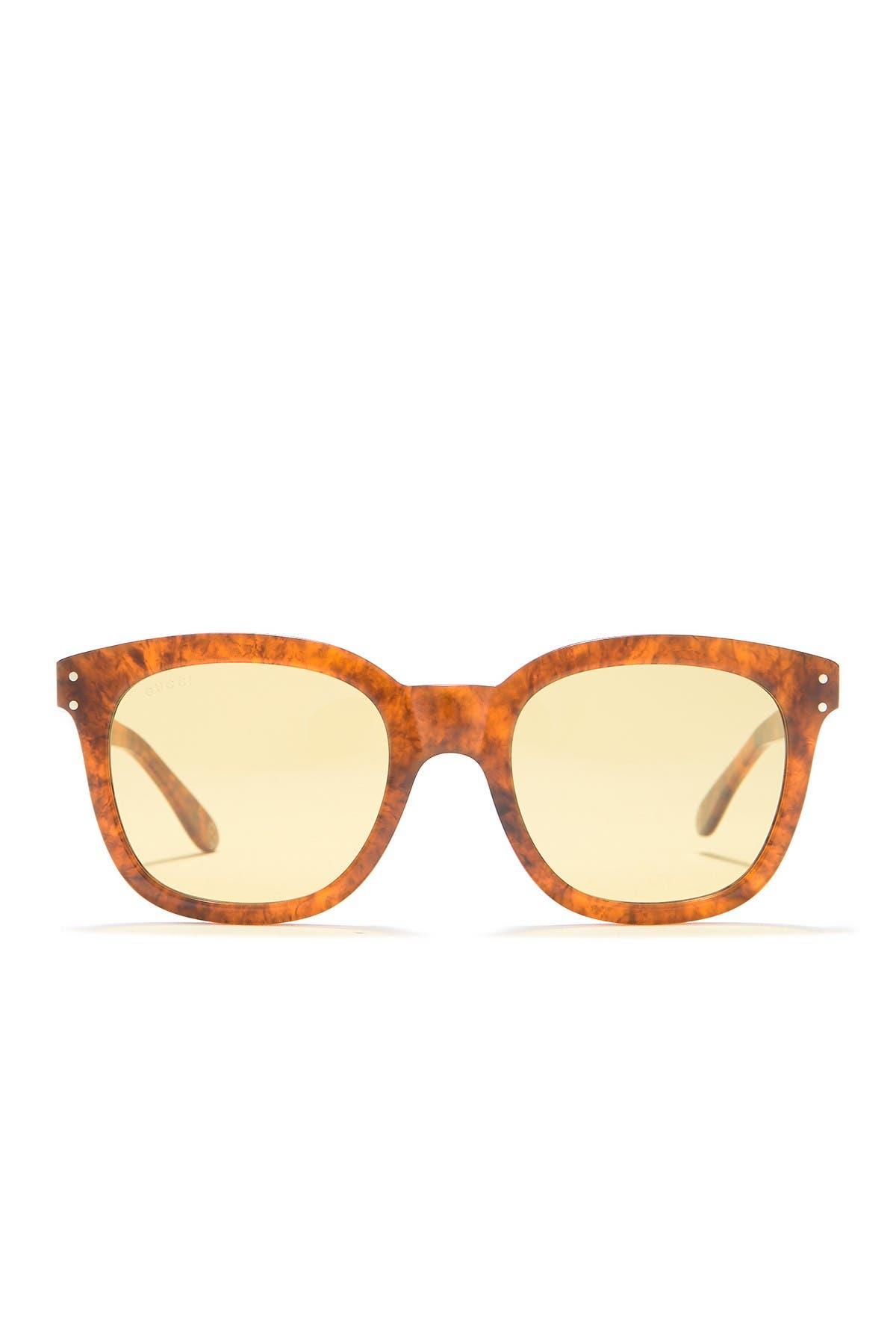 Image of GUCCI Core 52mm Square Sunglasses
