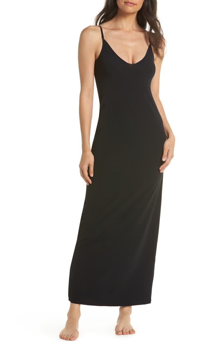COMMANDO 'Debutante' Maxi Slip, Main, color, BLACK