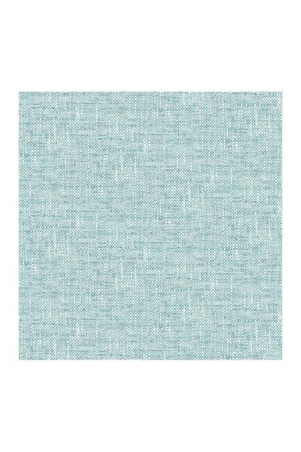 Image of WallPops! Aqua Poplin Texture Peel and Stick Wallpaper