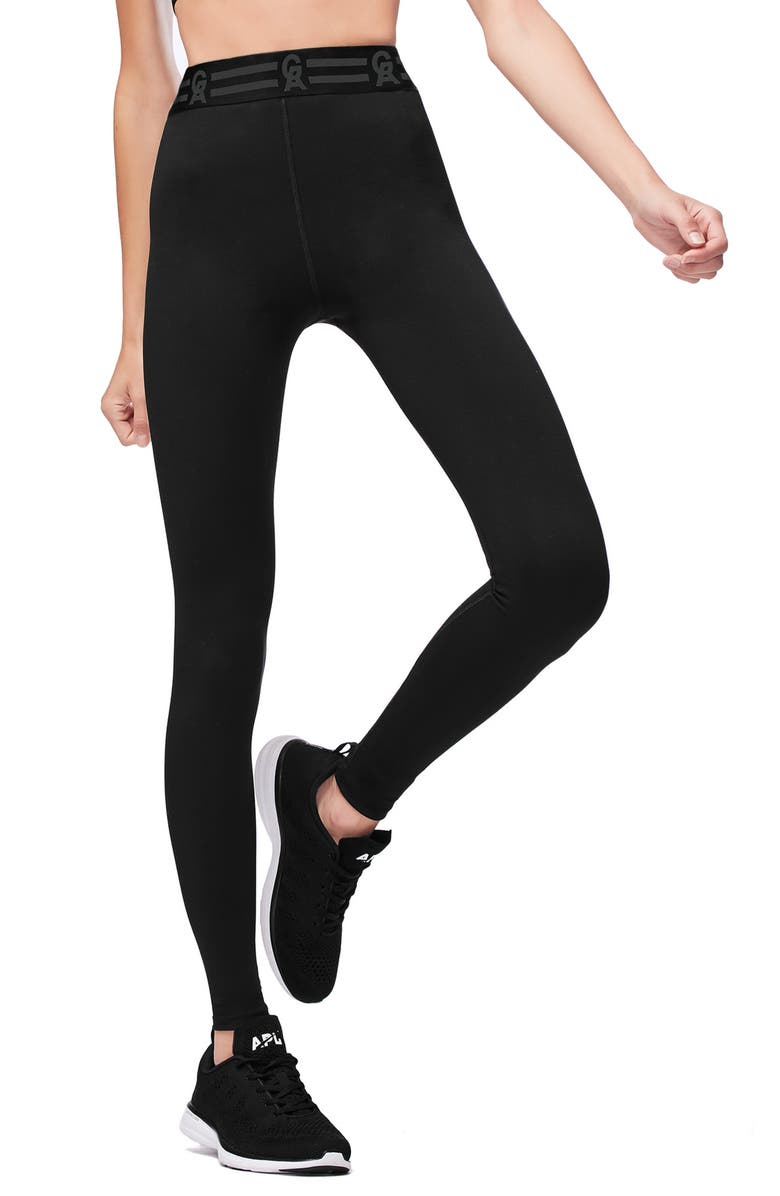 GOOD AMERICAN Icon High Waist Leggings, Main, color, 001