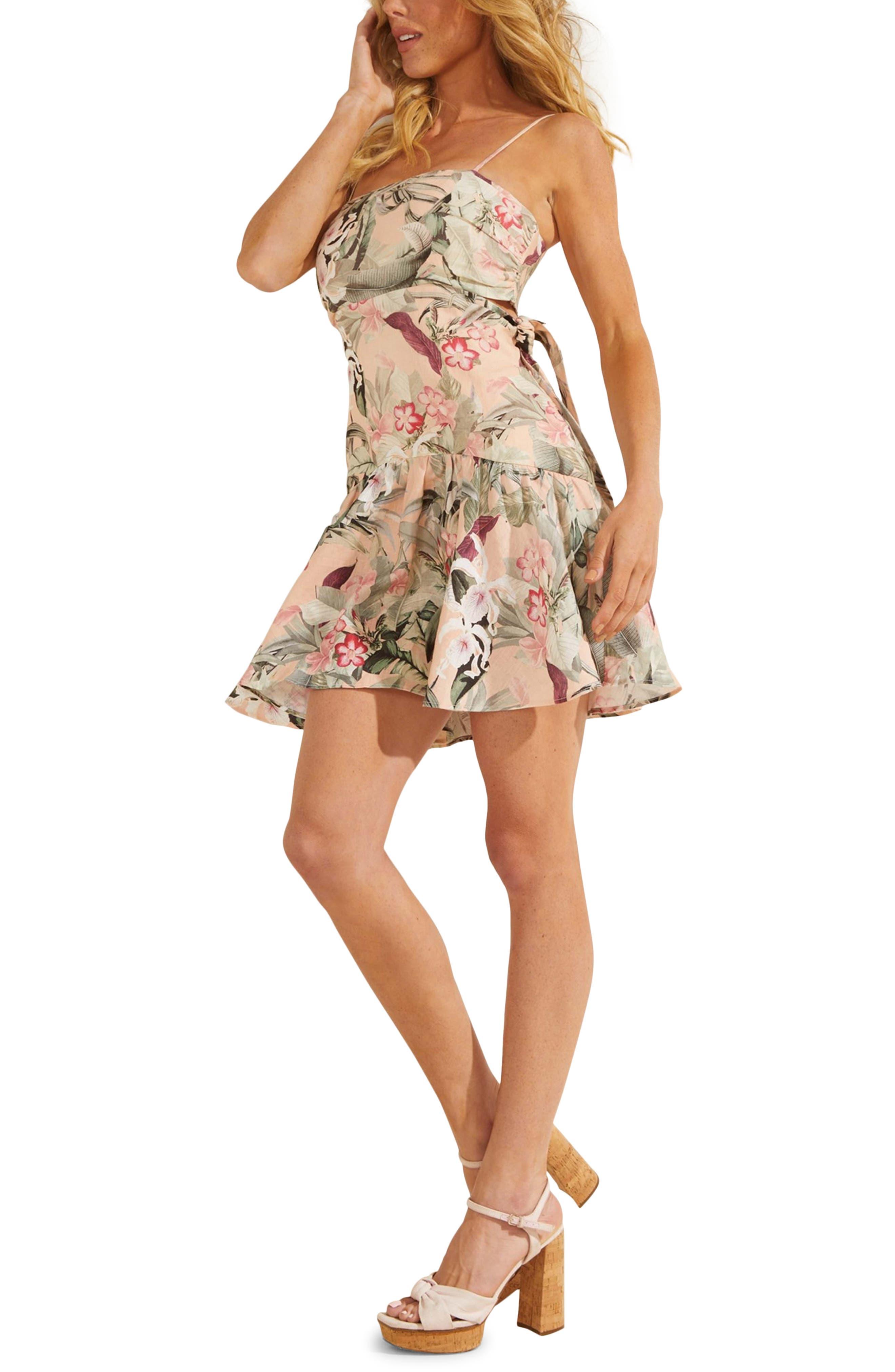 Eco Sophie Floral Linen Minidress