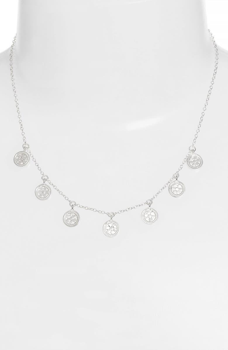 ANNA BECK Charm Collar Necklace, Main, color, SILVER