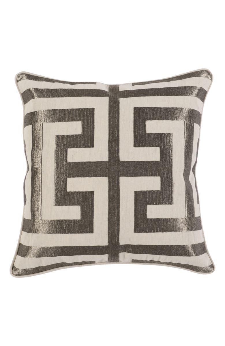VILLA HOME COLLECTION Capital Accent Pillow, Main, color, PLATINUM
