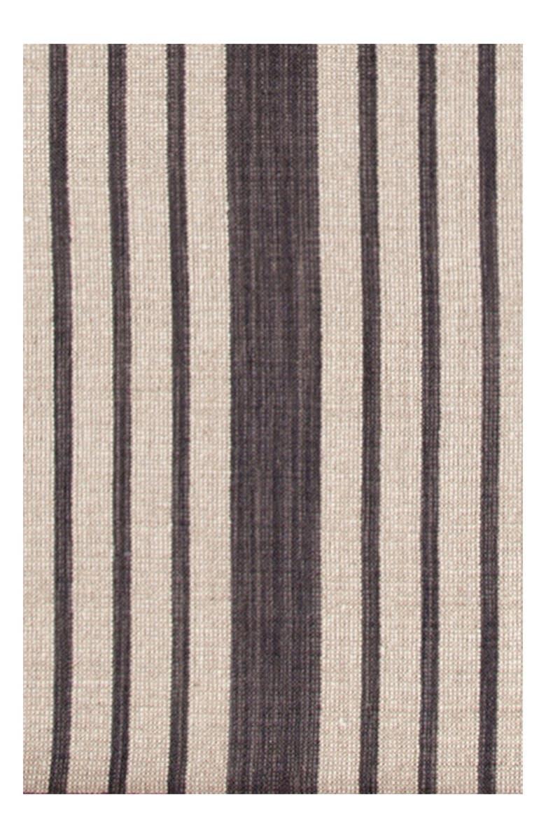 DASH & ALBERT 'Lenox' Stripe Rug, Main, color, CHARCOAL