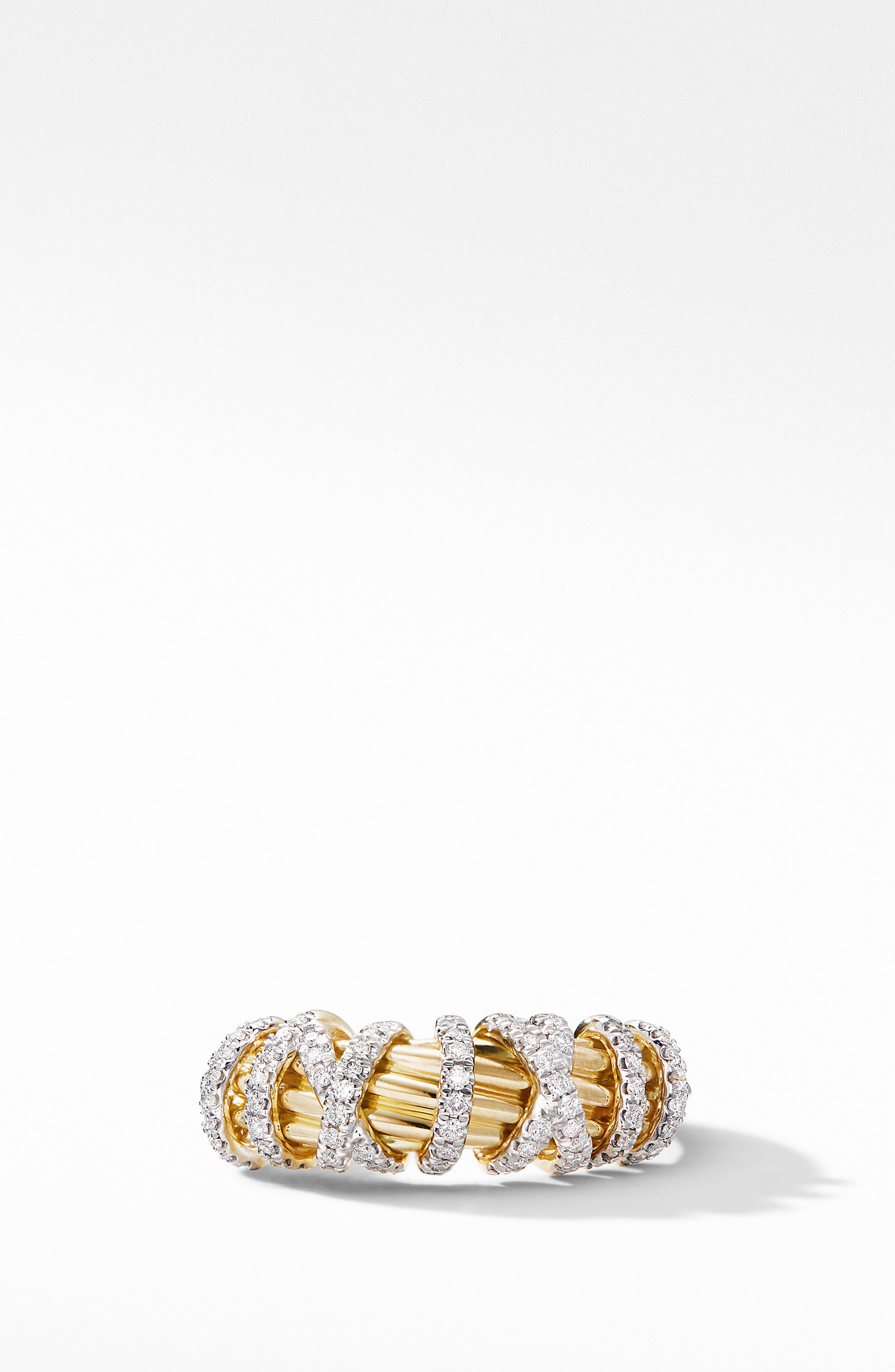 ,                             Helena Small 18K Yellow Gold Ring with Diamonds,                             Alternate thumbnail 3, color,                             GOLD/ DIAMOND