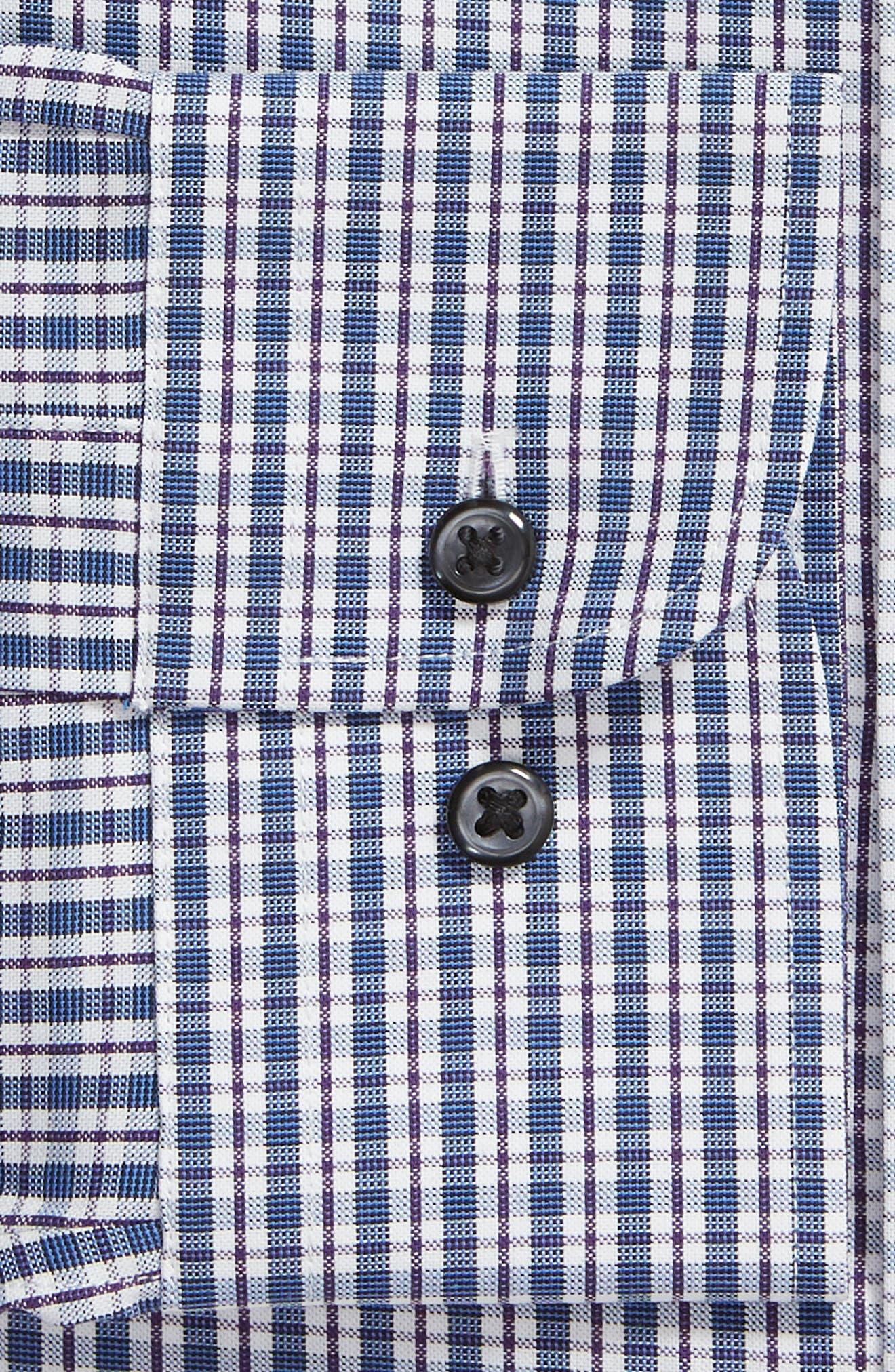 ,                             Tech-Smart Traditional Fit Plaid Stretch Dress Shirt,                             Alternate thumbnail 6, color,                             NAVY DUSK