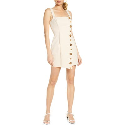 Finders Keepers Tia Button Front Minidress, Metallic