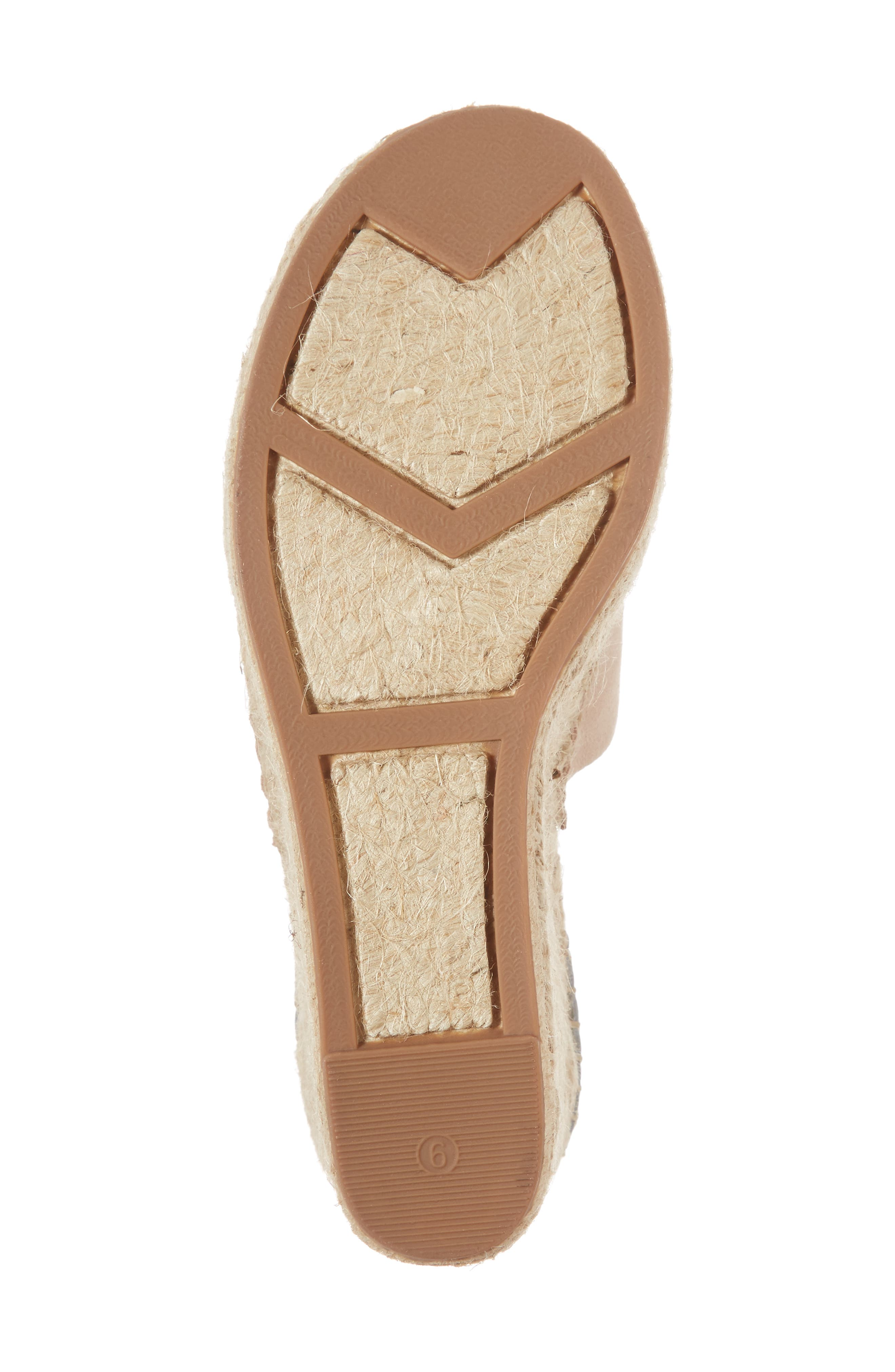 ,                             Adalyn Espadrille Wedge Sandal,                             Alternate thumbnail 6, color,                             IVORY SUEDE