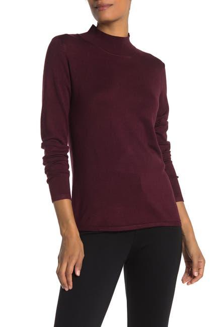 Image of T Tahari Mock Neck Long Sleeve Sweater