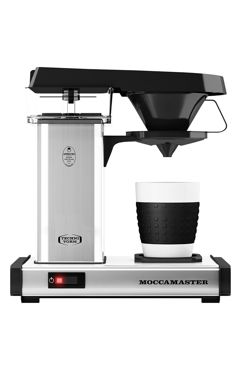 MOCCAMASTER One-Cup Coffee Brewer, Main, color, POLISHED SILVER