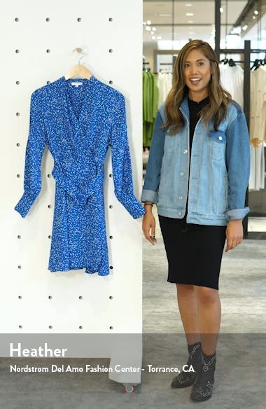 Fanetta Belted Long Sleeve Wrap Dress, sales video thumbnail