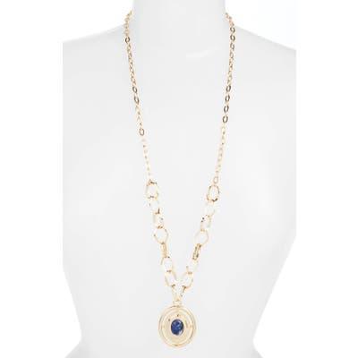 Halogen Long Medallion Pendant Necklace