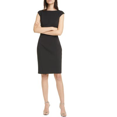 Ted Baker London Pelagas Fitted Dress, (fits like 4-6 US) - Black